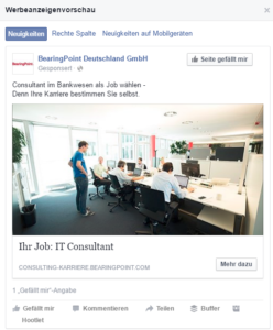 Facebook Recruiting Ad