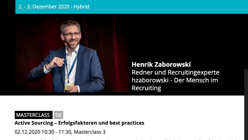 TALENTpro vom 2.-3.12.2020 in München